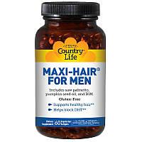 SALE, Комплекс витаминов для здоровья волос у мужчин, 60 капсул, Country Life, Maxi Hair for Men