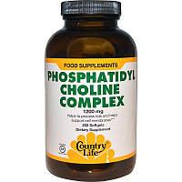 Фосфатидилхолиновый комплекс, Phosphatidyl Choline, Country Life, 200 кап.