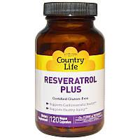 Ресвератрол (Resveratrol), Country Life, 120 капсул