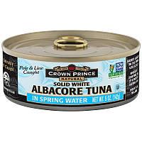 Crown Prince Natural, Длинноперый тунец, филе в родниковой воде, 5 унций (142 г)