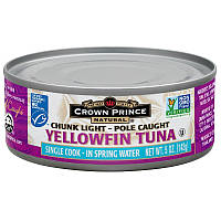 Crown Prince Natural, Yellowfin Tuna in Spring Water, 5 oz (142 g)