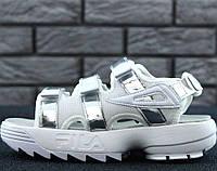 "Сандалии женские Fila Disruptor Sandals ""White/Silver"""