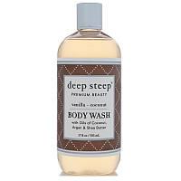 Deep Steep, Coconut Oil Body Wash, Vanilla Coconut, 17 fl oz (502 ml)