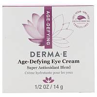 Крем от морщин для кожи вокруг глаз (Age-Defying Eye Cream), Derma E, 14 г