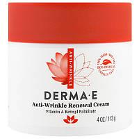 Крем от морщин (Anti-Wrinkle Vitamin A Retinyl Palmitate Cream), Derma E, с ретинилпальмитатом, (113 г)