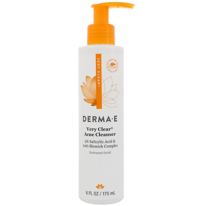 Очищающее средство для лица и тела, Very Clear Acne Cleanser, Derma E, 175 мл