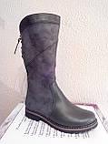 Женские зимние ботинки серого цвета. Зимние на меху., фото 3
