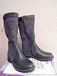 Женские зимние ботинки серого цвета. Зимние на меху., фото 4