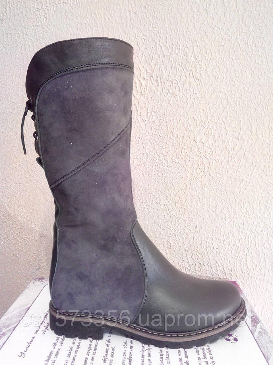 Женские зимние ботинки серого цвета. Зимние на меху.