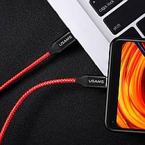 USAMS US-SJ196 2.4A Type-C - Type-C Кабель для телефонных данных для Samsung Xiaomi Oneplus 1TopShop, фото 3
