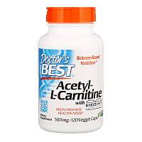 Ацетил -L карнитин, Doctors Best, 500 мг, 120 капсул