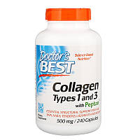 Коллаген, Doctors Best, 500 мг, 240 капсул