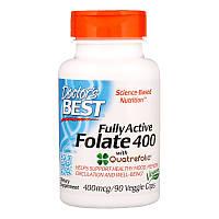 Фолат, Doctors Best, 400 мкг, 90 капсул