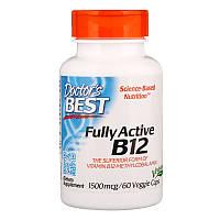 Витамин В12 (метилкобаламин), Doctors Best, 1500 мкг, 60 капcул