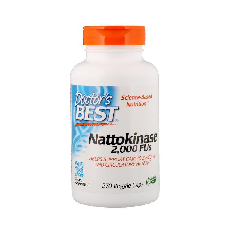 Наттокиназа, Doctors Best, 270 капсул