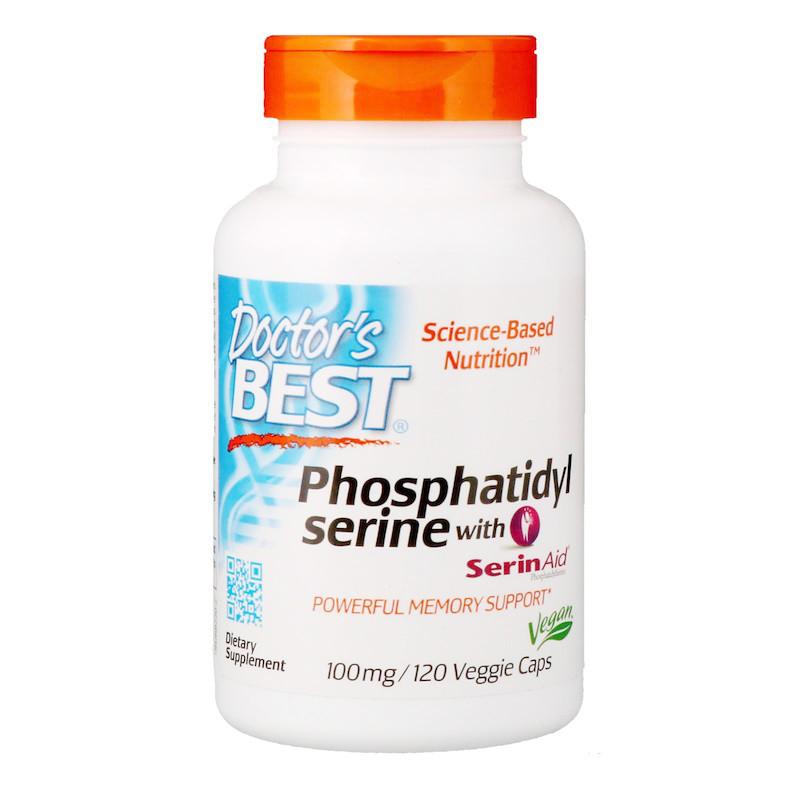 Фосфатидилсерин, Doctors Best, 100 мг, 120 кап.
