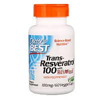 Ресвератрол, Doctors Best, 100 мг, 60 капсул