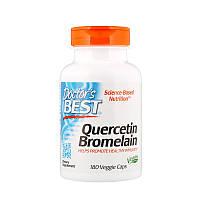 Кверцетин и бромелайн, Doctors Best, 180 капсул