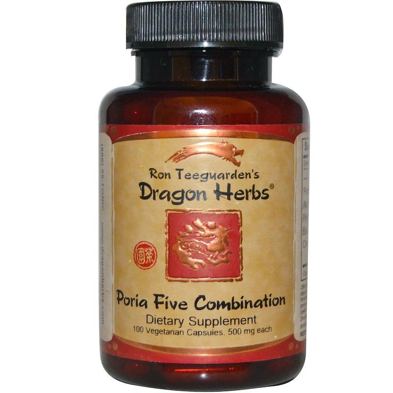 Травяная формула (пория кокосовидная), Dragon Herbs, 100