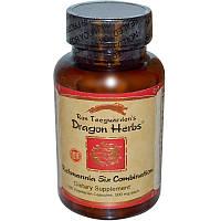 Dragon Herbs, Смесь ремания-6, 500 мг, 100 капсул на растительной основе