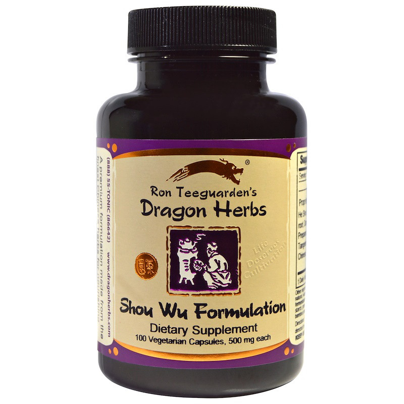 Dragon Herbs, Формула Шоу Ву 100 овощных капсул