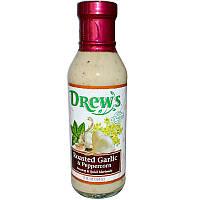 Drew's All Natural, Соус и маринад, Обжареный чеснок и перец 12 жидких унции (354 мл)
