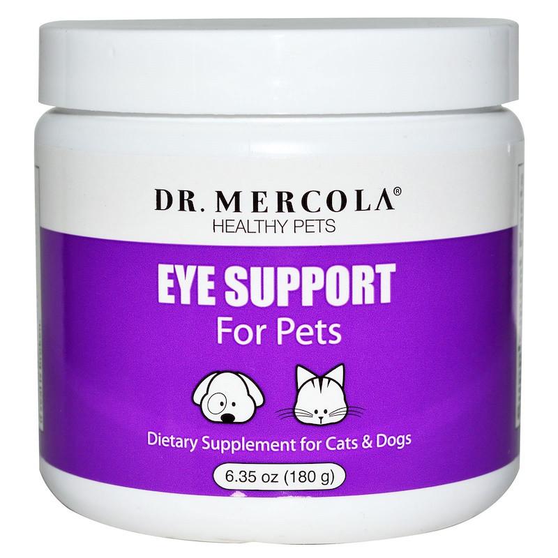 Поддержка глаз домашним животным, Dr. Mercola, 180 г.