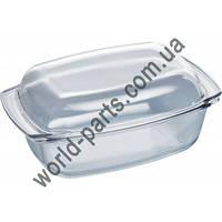 Стеклянная утятница из закаленного стекла с крышкой Bosch, Siemens 17000903 original