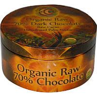 70% темный шоколад, Earth Circle Organics, 250 г