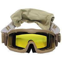 """Защитные очки с 2 сменными стёклами MFH """"Thunder deluxe"""" 25853F"""
