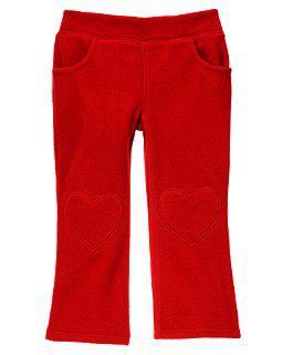 Красные микрофлисовые брючки с карманами (Размер 2Т) Сrazy8 (США)