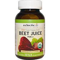 Свекольный порошок (Beet Juice), Eclectic Institute, 90 г