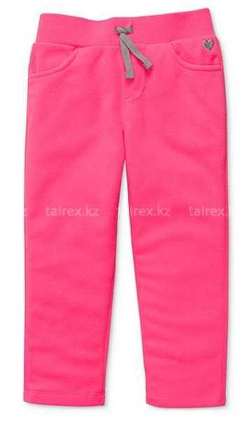 Микрофлисовые ярко розовые брючки (Размер 12мес) Сarter's (США)
