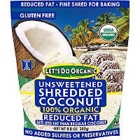 Обезжиренная кокосовая  стружка, Reduced Fat Coconut, Edward & Sons, 250 г