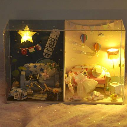 T-Yu TW14 Мемориальный день DIY Кукла Дом с крышкой Свет коллекция подарков Декор Игрушка, фото 2