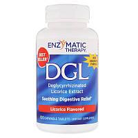 Корень солодки (DGL), Enzymatic Therapy, 100 таблеток