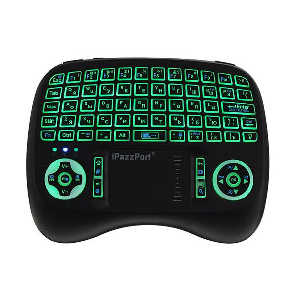 IPazzPort KP-810-21T-RGB Русский три цвета с подсветкой Mini Клавиатура Touchpad Airmouse 1TopShop