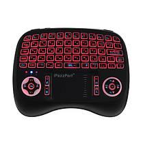 IPazzPort KP-810-21T-RGB Русский три цвета с подсветкой Mini Клавиатура Touchpad Airmouse 1TopShop, фото 2