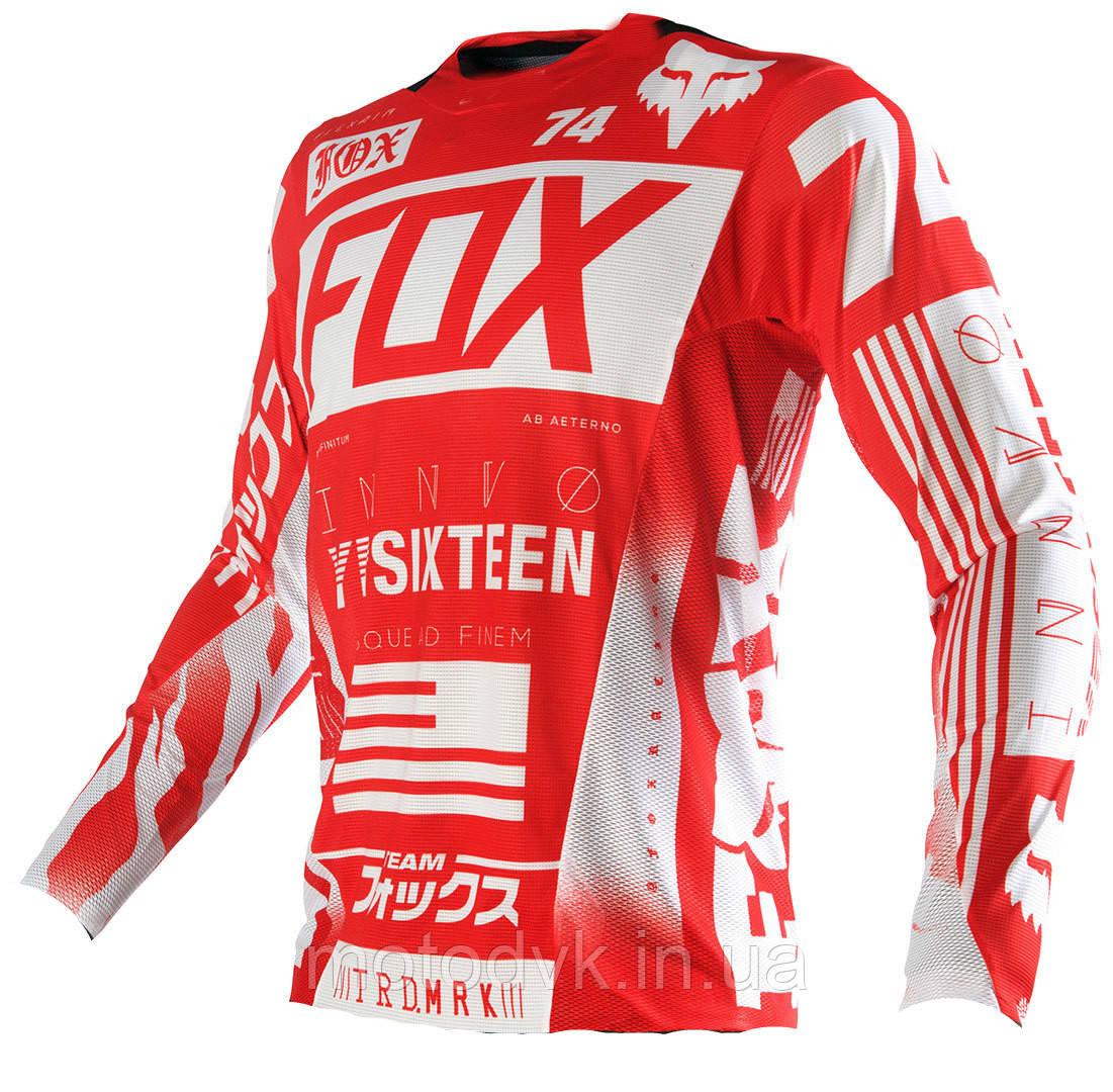 Джерси для мотокросса Fox YRSIXTEEN красная, размер XL