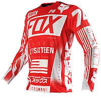 Джерси для мотокросса Fox YRSIXTEEN красная, размер XL, фото 1