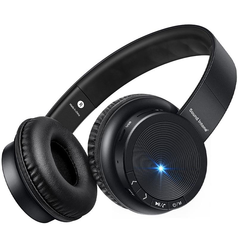 ЗвукIntoneP30WirelessBluetoothНаушники TF-карты Стерео басовая гарнитура с микрофоном для iPhone Xiaomi - 1TopShop
