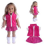 Кукла Одежда Платье Футболка с юбкой для 18 дюймов Американская девочка без ребенка-новорожденного Кукла