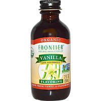 Frontier Natural Products, Органическая ваниль, без спирта, 2 жидких унции (59 мл)