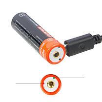 NicronNRB-L750750mAh/3.7VUSB Аккумуляторный 14500 Защищенный литий-ионный Батарея с индикатором LED 1TopShop, фото 3