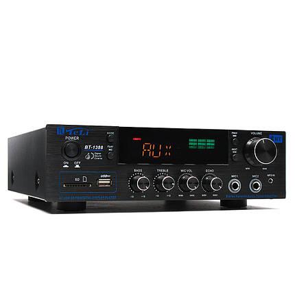 TELI BT-1388 HiFi Bluetooth Мощность Усилитель Стерео аудио караоке FM Приемник USB SD, фото 2