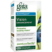 Витамины для улучшения зрения, Vision Enhancement, Gaia Herbs, 60 фитокапсул