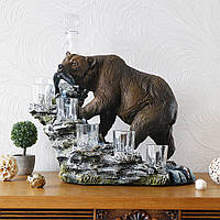 Штоф медведь подарочный набор для водки Гранд Презент ШП409цв