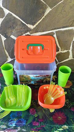 Набор посуды для пикника., фото 2