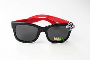 Солнцезащитные детские очки красные (10*962-6)