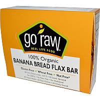 Органические батончики с банановым хлебом и семенами льна, Organic Banana Bread Flax Bar, Go Raw, 10 бат.